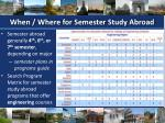 when where for semester study abroad
