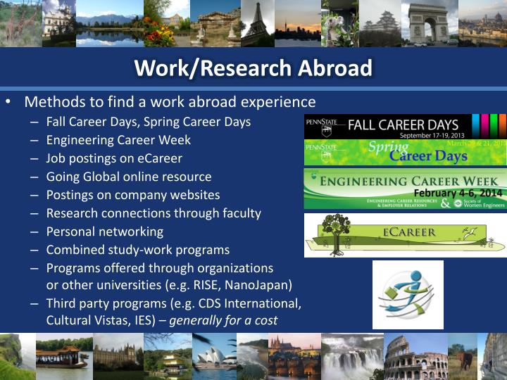 Work/Research Abroad