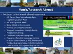 work research abroad