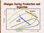 changes during production and injection