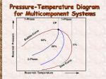 pressure temperature diagram for multicomponent systems