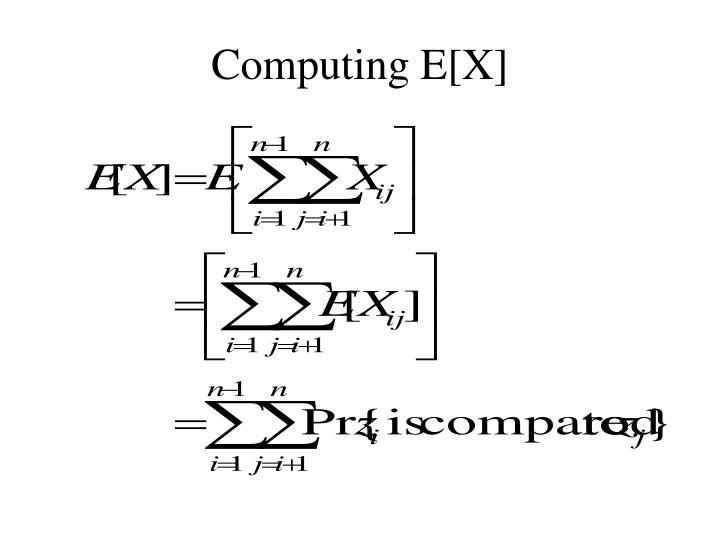Computing E[X]