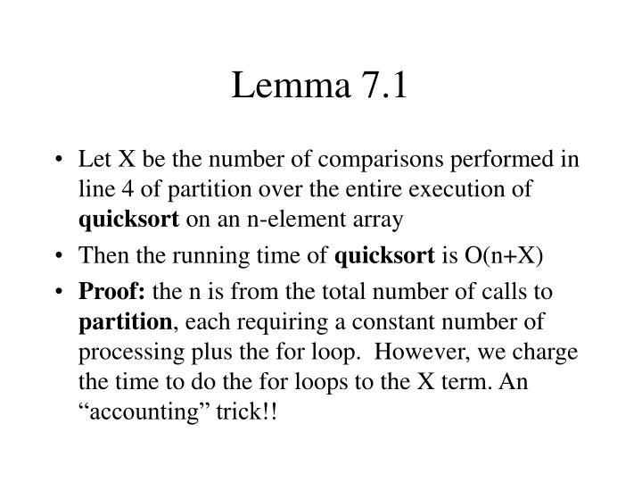 Lemma 7.1