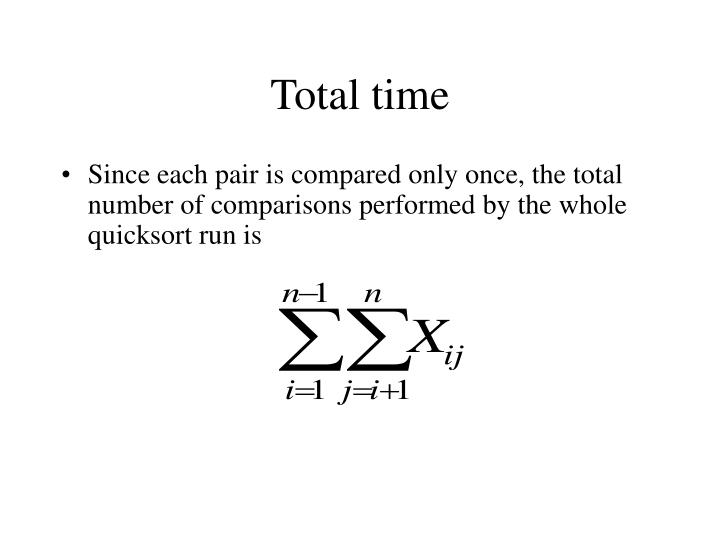 Total time