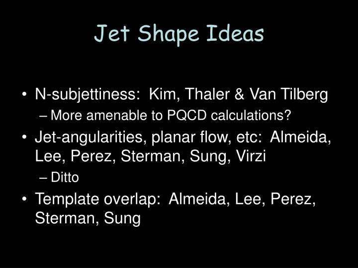 Jet Shape Ideas