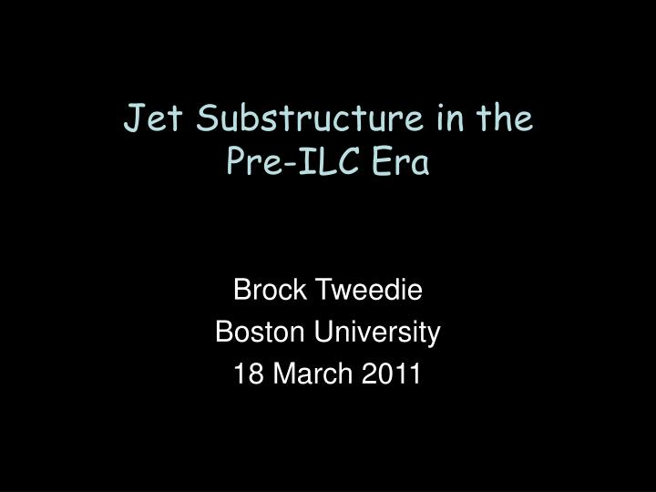 Jet Substructure in the