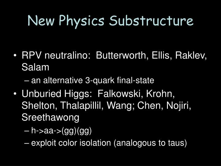 New Physics Substructure