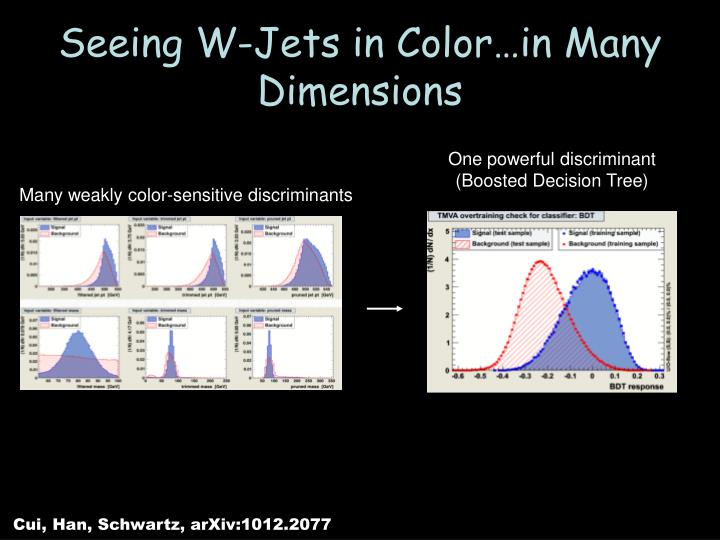 Seeing W-Jets in Color…in Many Dimensions