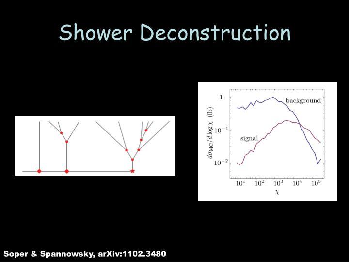 Shower Deconstruction