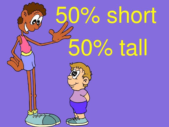 50% short