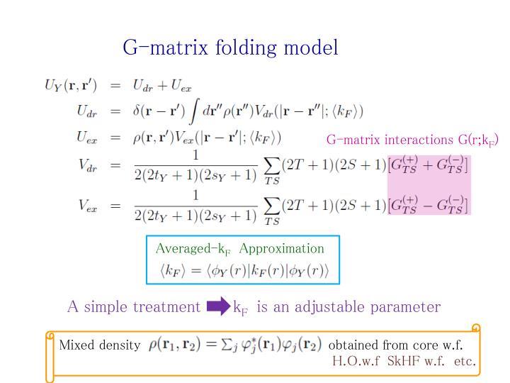 G-matrix folding model