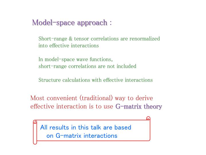 Model-space approach