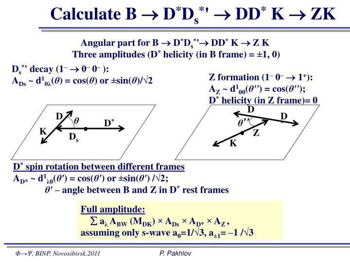 Calculate B