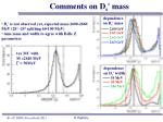 comments on d s mass