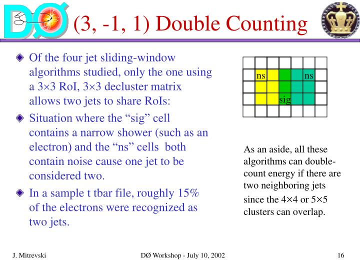 (3, -1, 1) Double Counting