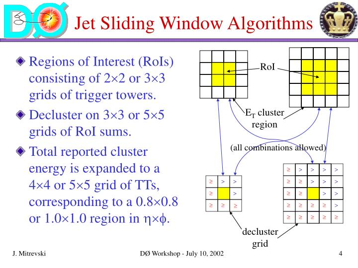 Jet Sliding Window Algorithms