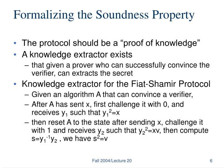Formalizing the Soundness Property
