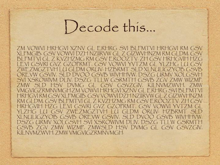 Decode this…