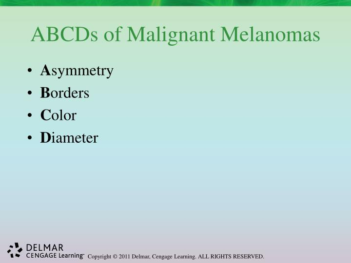 ABCDs of Malignant Melanomas
