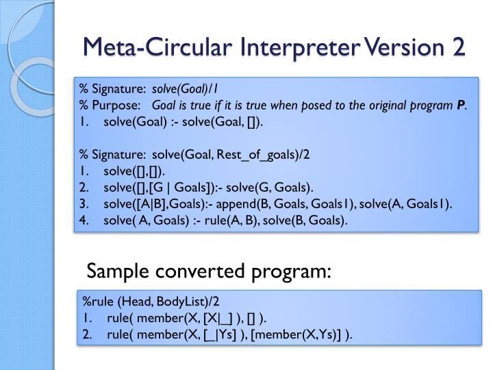 Meta-Circular Interpreter Version