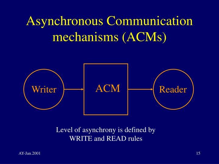 Asynchronous Communication mechanisms (ACMs)