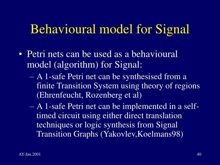 Behavioural model for Signal