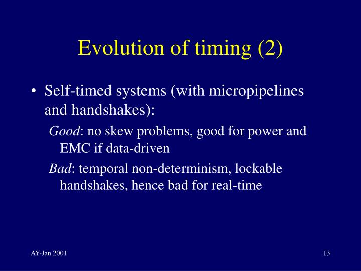 Evolution of timing (2)