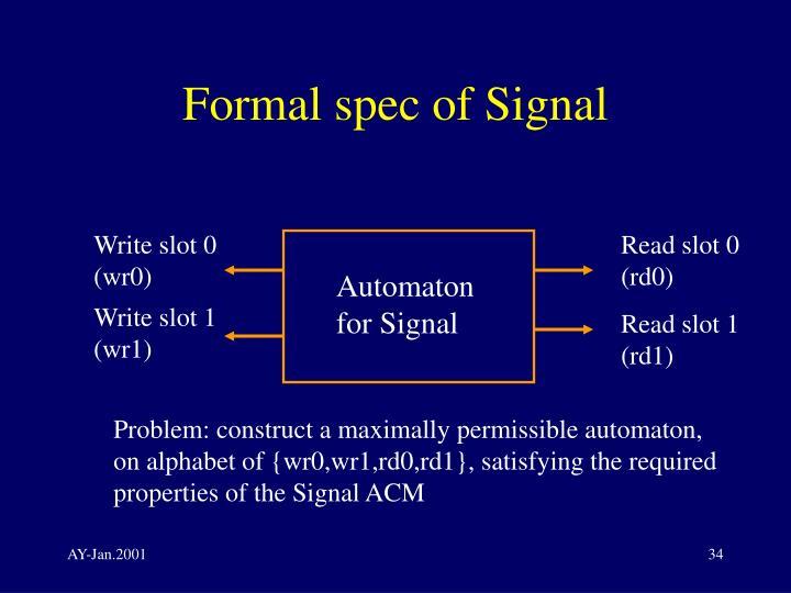 Formal spec of Signal