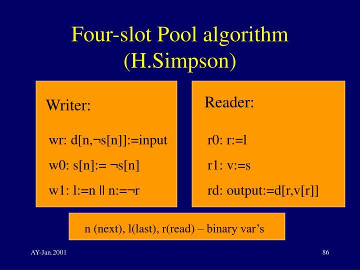 Four-slot Pool algorithm (H.Simpson)