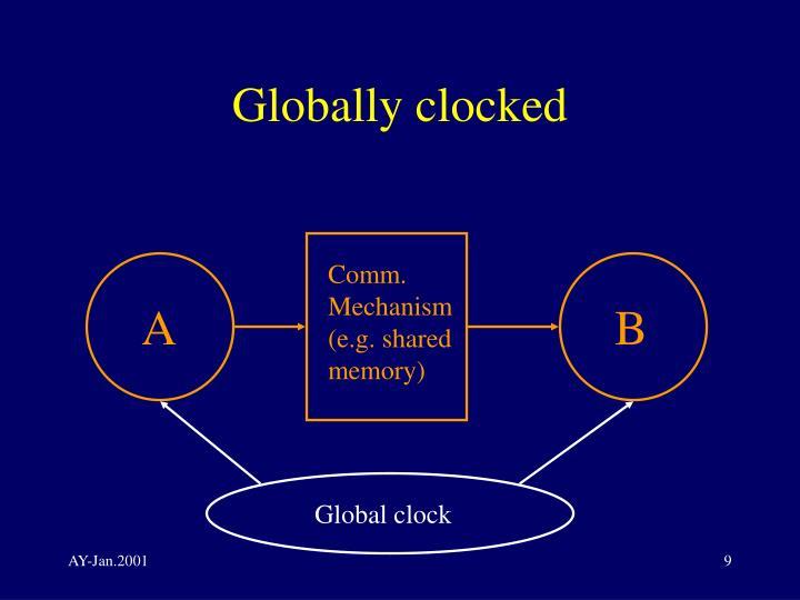 Globally clocked