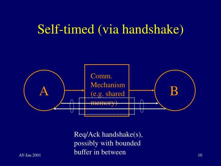 Self-timed (via handshake)