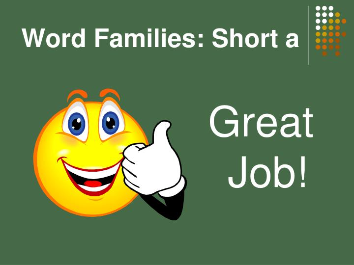 Word Families: Short a