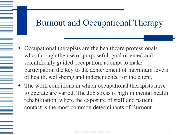 are occupational stress and burnout the Prolonged occupational stress can lead to occupational burnout occupational stress can also disrupt relationships the effects of.