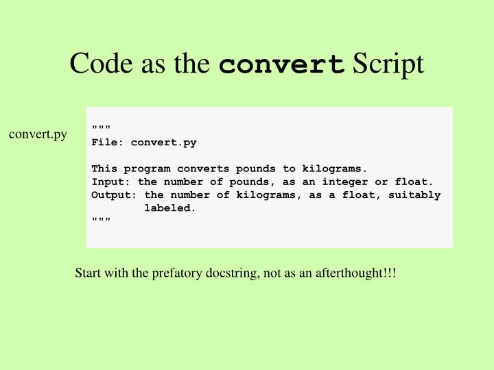 Code as the