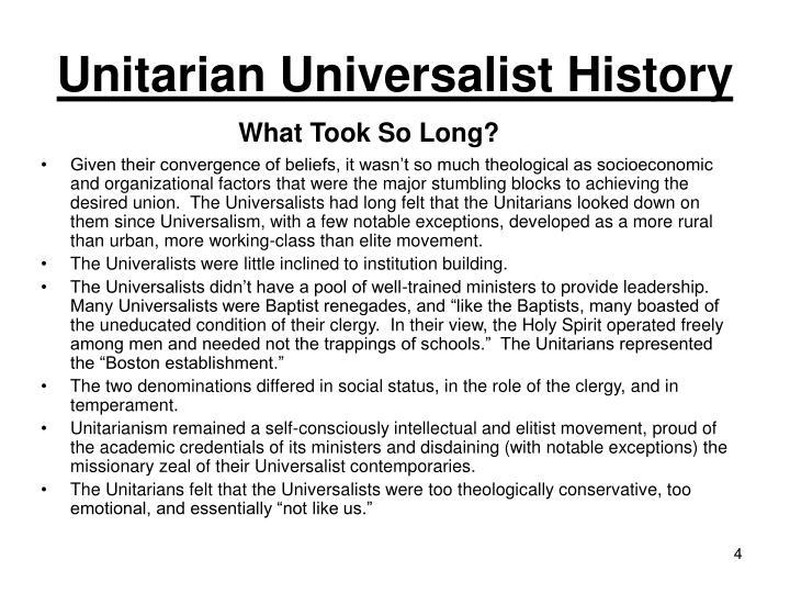 Unitarian Universalist History