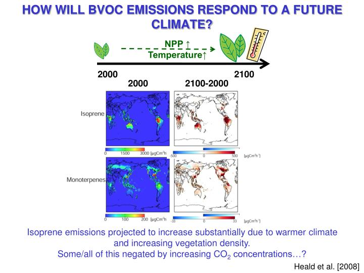 HOW WILL BVOC EMISSIONS RESPOND TO A FUTURE CLIMATE?