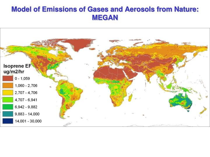 Model of Emissions of Gases and Aerosols from Nature: