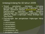 undang undang no 32 tahun 2009
