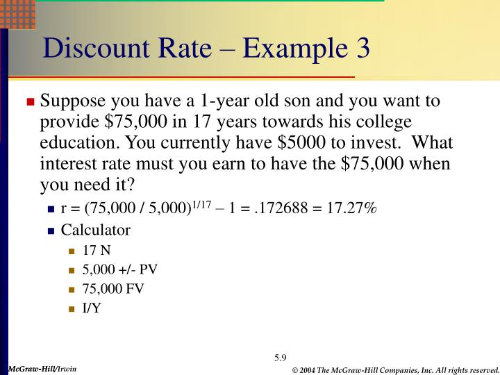 Discount Rate – Example 3