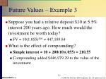 future values example 3
