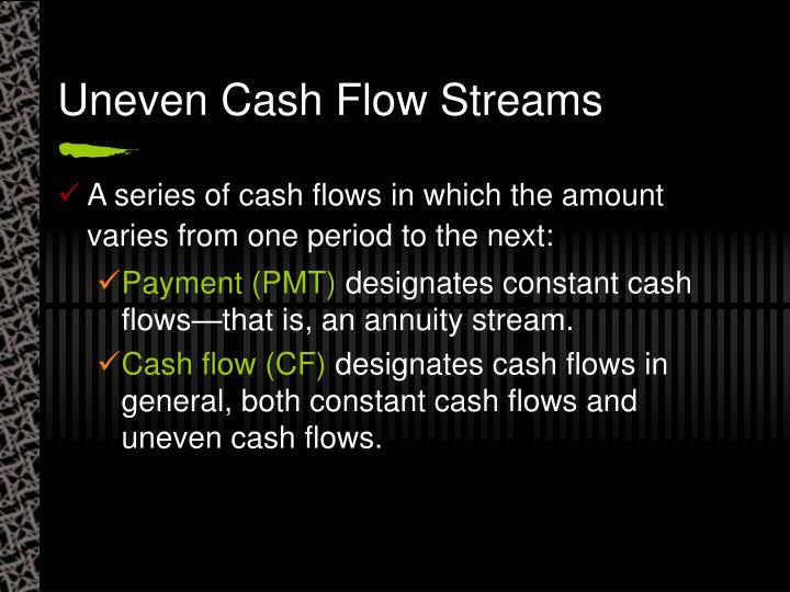 Uneven Cash Flow Streams