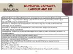 municipal capacity labour and hr
