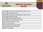 service delivery roads