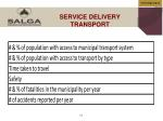 service delivery transport