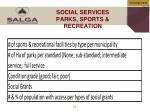 social services parks sports recreation