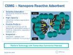 csmg nanopore reactive adsorbent