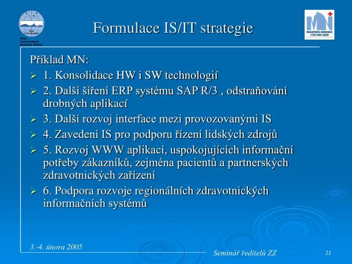 Formulace IS/IT strategie