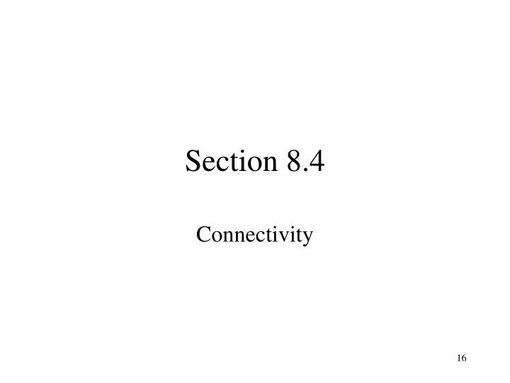 Section 8.4