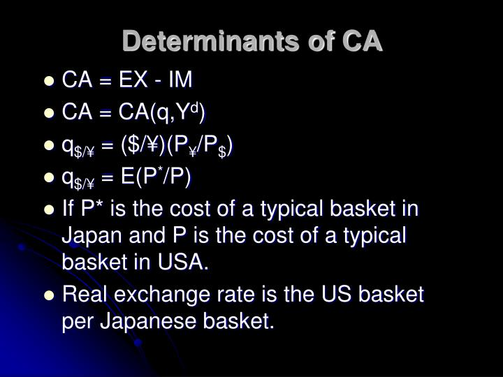 Determinants of CA