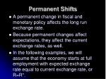 permanent shifts